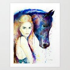 Horse Girl Art Print