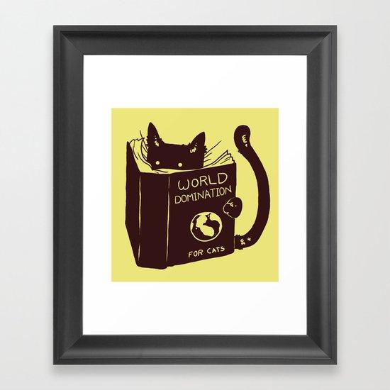 World Domination (for cats) Framed Art Print