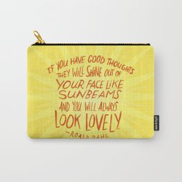 Roald Dahl on Positive Thinking Carry-All Pouch