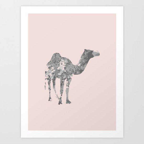 Camel wall art Art Print