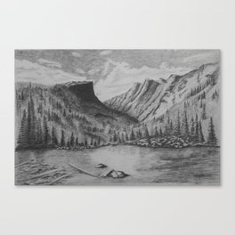 Mountain in Pencil Canvas Print