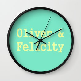 Oliver & Felicity Wall Clock