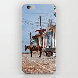 Putting the horse in front of the cart...this time. iPhone Skin