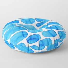 Watercolour abstract Floor Pillow