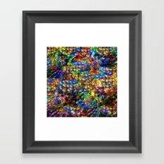 Peacock Garden Framed Art Print
