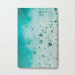 Beach Photography, Aerial Blue Ocean Print, Large Turquoise Ocean Poster, Coastal Wall Art, Beach Metal Print