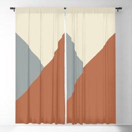 Origami Geo Tile // Terracotta Blackout Curtain