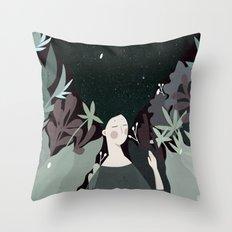 sleepiness Throw Pillow