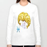 pisces Long Sleeve T-shirts featuring Pisces by Aloke Design