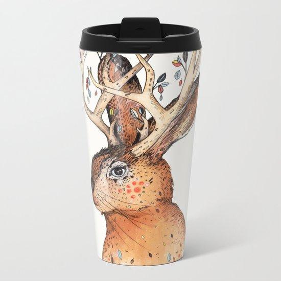 Jackalope Metal Travel Mug