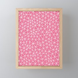 Connectivity - White on Pink Framed Mini Art Print