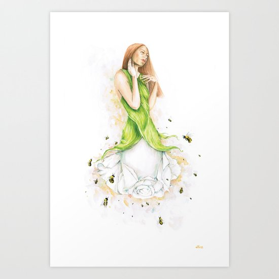 Petite fleur / Little Flower Art Print