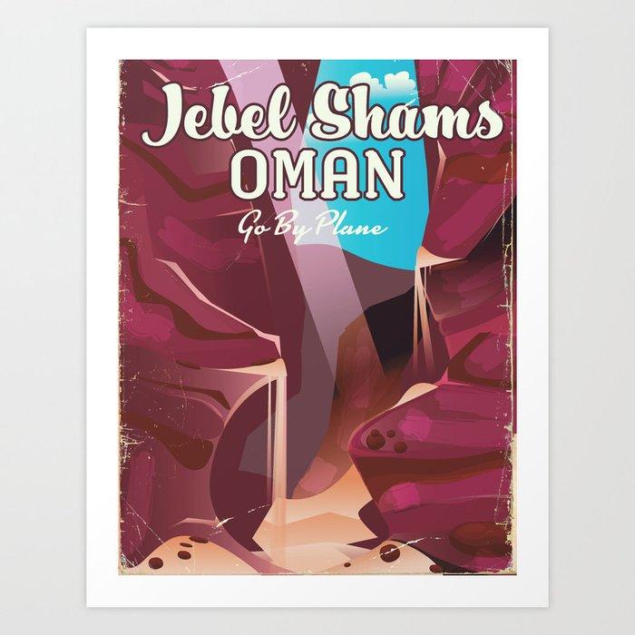 Jebel Shams, Oman Travel poster Art Print