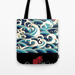 Rubino Sailing Water Great Wave Tote Bag