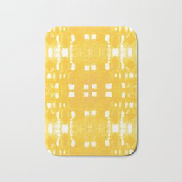 Shibori City Yellow Bath Mat