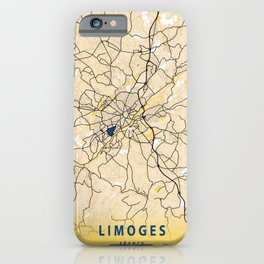 Limoges Yellow City Map iPhone Case