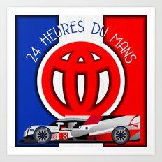 24 Hours of Le Mans - Toyota TS050 Art Print