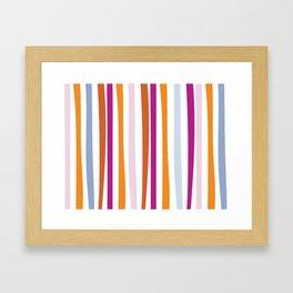 Bamboo Stripes Framed Art Print