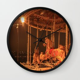 Night Riding Wall Clock