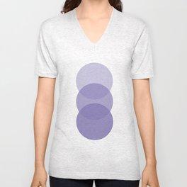Purple Circles Unisex V-Neck