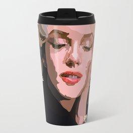 Marilyn Monroe with Flowers Travel Mug