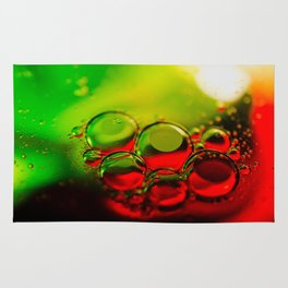 Bubble Art Multi Colored Illustration Rug