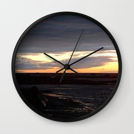 Sunset on the St-Lawrence Wall Clock