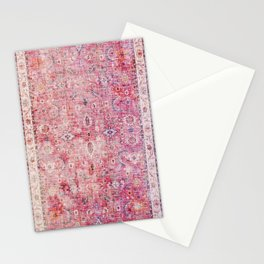 Pink Vintage Antique Oriental Traditional Moroccan Original Artwork Stationery Cards