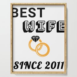 Wife 8th Anniversary Gift, Women's Wedding Present Print Serving Tray