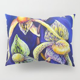 Orchid -  The Paphiopedilum , known as Lady's Slipper Pillow Sham