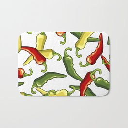 Chili peppers Bath Mat