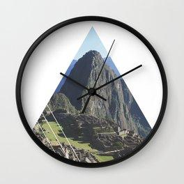 Machu Picchu - Geometric Photography Wall Clock