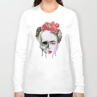 frida kahlo Long Sleeve T-shirts featuring Frida Kahlo  by Karol Gallegos Carrera