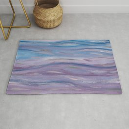 Touching Purple Blue Watercolor Abstract #2 #painting #decor #art #society6 Rug