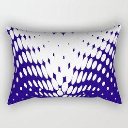 Blue Twist Rectangular Pillow