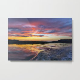Sunset on the Warwick River Metal Print