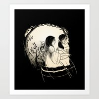 sisters Art Prints featuring Sisters by Karl Kwasny