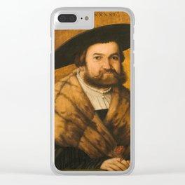 AMBERGER, CHRISTOPH 1500 - Augsburgo, 1562 The Augsburg Goldsmith Jörg Zörer Clear iPhone Case