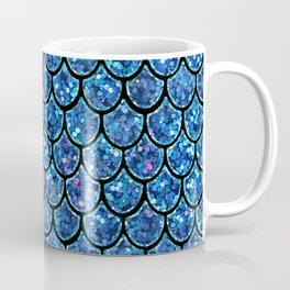 Sparkly Turquoise & Blue & Glitter Mermaid Scales Coffee Mug