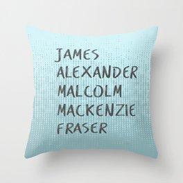 James Alexander Malcom Mackenzie Frazer Throw Pillow