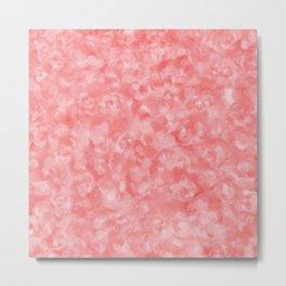 Strawberry Blush Orgnaic Abstract Metal Print