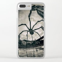 Along Came a Spider - b/n Clear iPhone Case