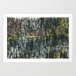 And Then...an Acrylic Abstact Painting Art Print