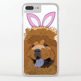 Happy Easter - Chow Chow Clear iPhone Case