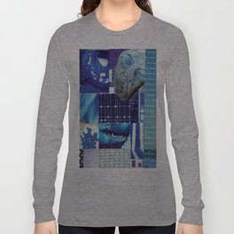 Collage - Just Blue Long Sleeve T-shirt