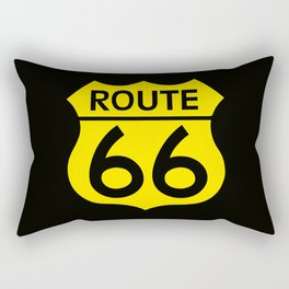 Travel USA sign of Route 66 label. American road icon. Rectangular Pillow