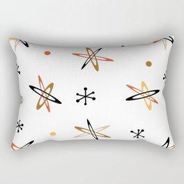 Atomic Era Space Age Orange Brown White Rectangular Pillow