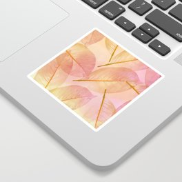 Pastel Fall Leaf Abstract Sticker