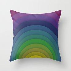 Rainbow circles Throw Pillow