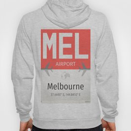 Melbourne Australia airport code MEL Hoody